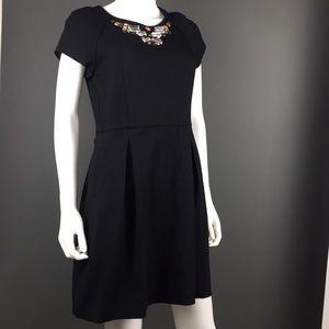 BANANA REPUBLIC Black Elegant Dress M 8 ✨
